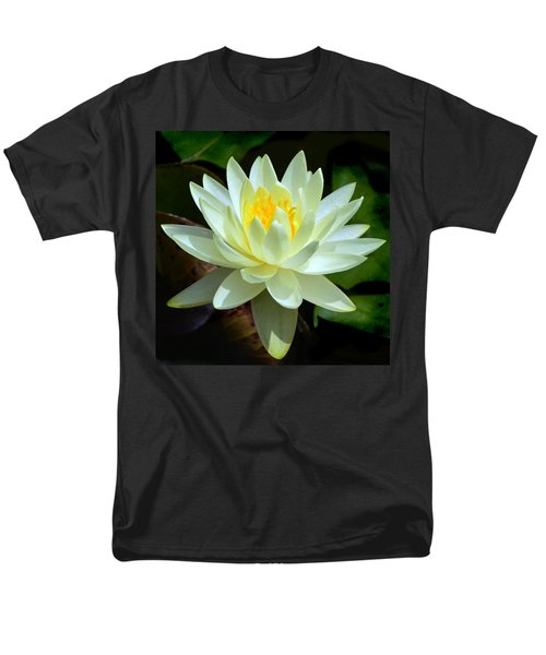 Single Yellow Water Lily Men's T-Shirt  (Regular Fit) by Kathleen Stephens
