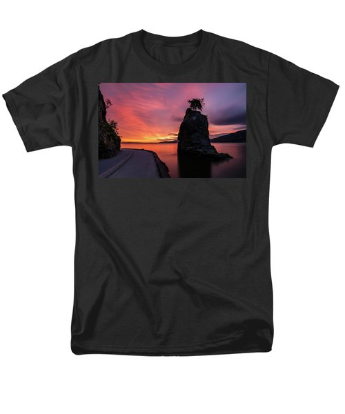 Siwash Rock Along The Sea Wall Men's T-Shirt  (Regular Fit) by Pierre Leclerc Photography