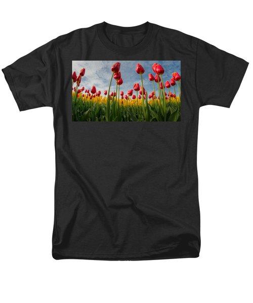Men's T-Shirt  (Regular Fit) featuring the photograph Skagit Valley Spring Joy by Dan Mihai