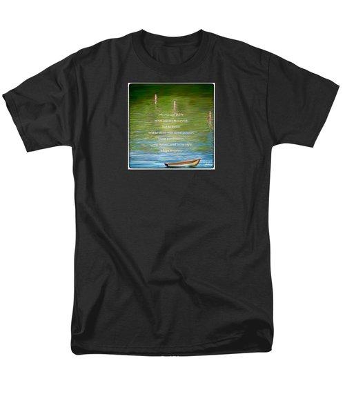Skiff Boat Quote Men's T-Shirt  (Regular Fit) by Susan Garren