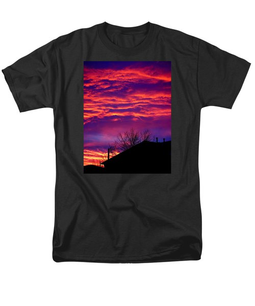 Men's T-Shirt  (Regular Fit) featuring the photograph Sky Drama by Valentino Visentini