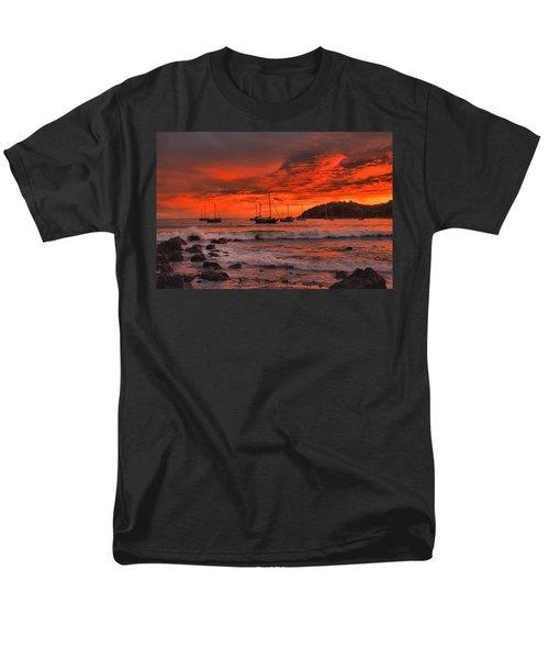 Men's T-Shirt  (Regular Fit) featuring the photograph Sky On Fire by Jim Walls PhotoArtist