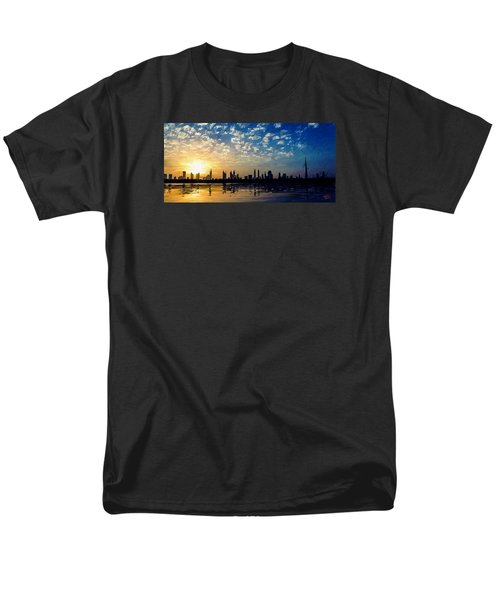 Men's T-Shirt  (Regular Fit) featuring the painting Skyline by James Shepherd