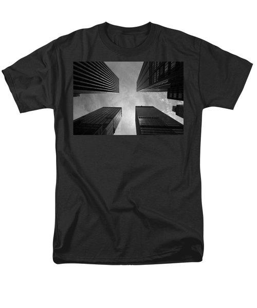 Skyscraper Intersection Men's T-Shirt  (Regular Fit) by Linda Edgecomb