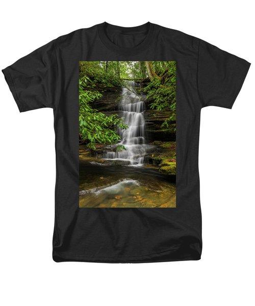 Small Waterfalls In The Forest. Men's T-Shirt  (Regular Fit) by Ulrich Burkhalter