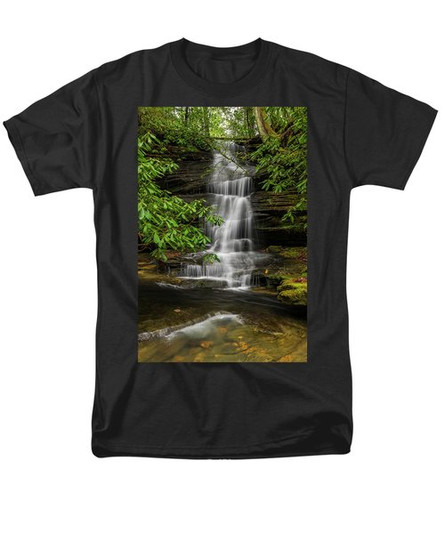 Small Waterfalls In The Forest. Men's T-Shirt  (Regular Fit)