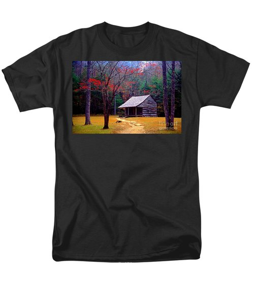 Smoky Mtn. Cabin Men's T-Shirt  (Regular Fit) by Paul W Faust -  Impressions of Light