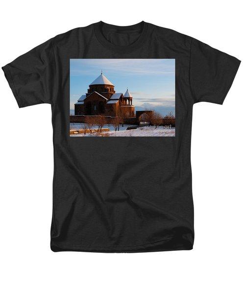 Snow Capped St. Hripsipe Church At Winter, Armenia Men's T-Shirt  (Regular Fit) by Gurgen Bakhshetsyan