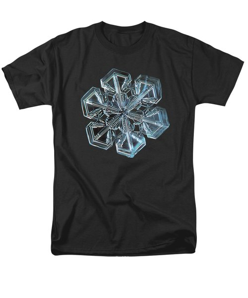 Men's T-Shirt  (Regular Fit) featuring the photograph Snowflake Photo - Alcor by Alexey Kljatov