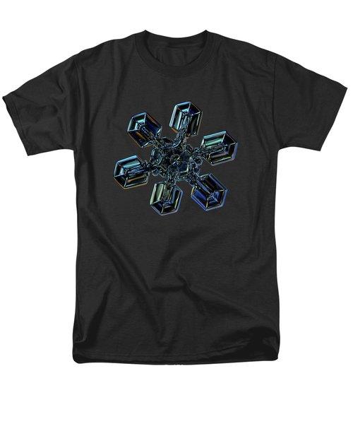 Snowflake Photo - High Voltage IIi Men's T-Shirt  (Regular Fit) by Alexey Kljatov