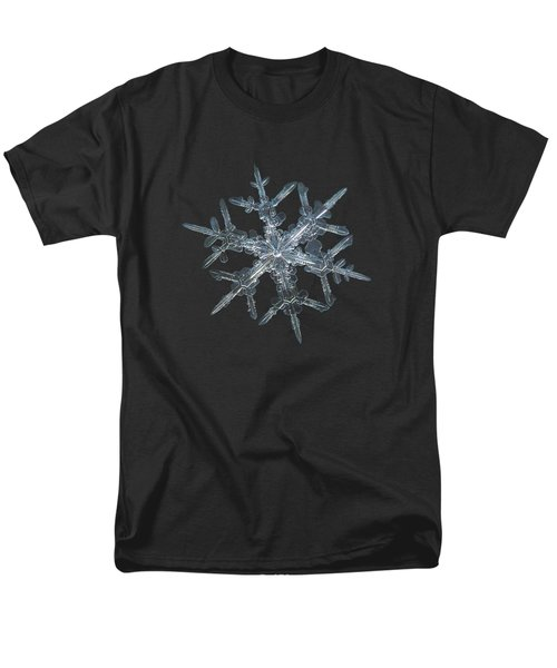 Men's T-Shirt  (Regular Fit) featuring the photograph Snowflake Photo - Rigel by Alexey Kljatov
