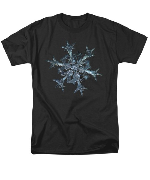 Men's T-Shirt  (Regular Fit) featuring the photograph Snowflake Photo - Starlight by Alexey Kljatov