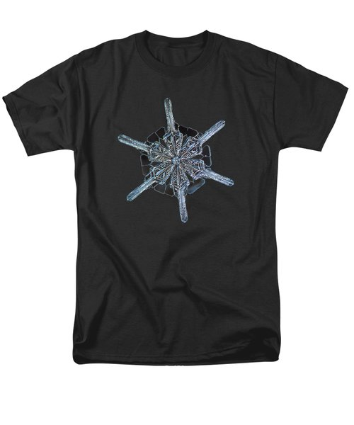Men's T-Shirt  (Regular Fit) featuring the photograph Snowflake Photo - Steering Wheel by Alexey Kljatov
