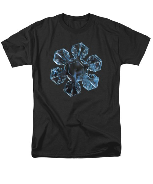 Men's T-Shirt  (Regular Fit) featuring the photograph Snowflake Photo - The Core by Alexey Kljatov