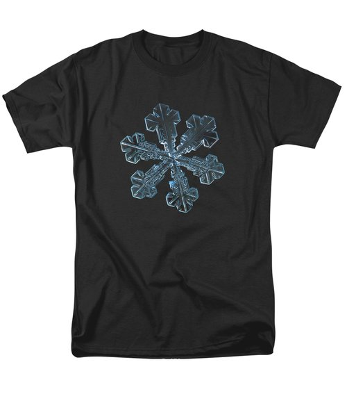 Men's T-Shirt  (Regular Fit) featuring the photograph Snowflake Photo - Vega by Alexey Kljatov