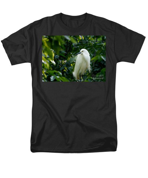 Snowy Egret In The Trees Men's T-Shirt  (Regular Fit)
