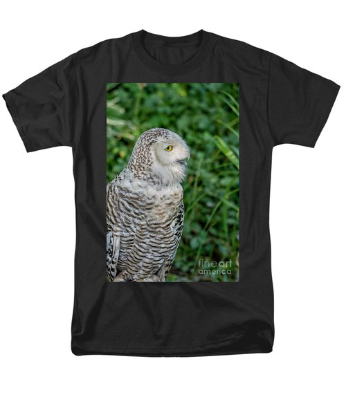 Men's T-Shirt  (Regular Fit) featuring the photograph Snowy Owl by Patricia Hofmeester