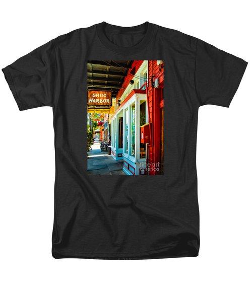 Snug Harbor Jazz Bistro- Nola Men's T-Shirt  (Regular Fit) by Kathleen K Parker