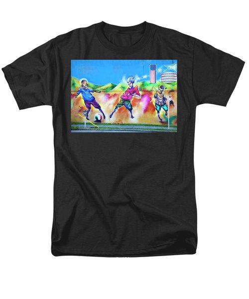 Men's T-Shirt  (Regular Fit) featuring the photograph Soccer Graffiti by Theresa Tahara