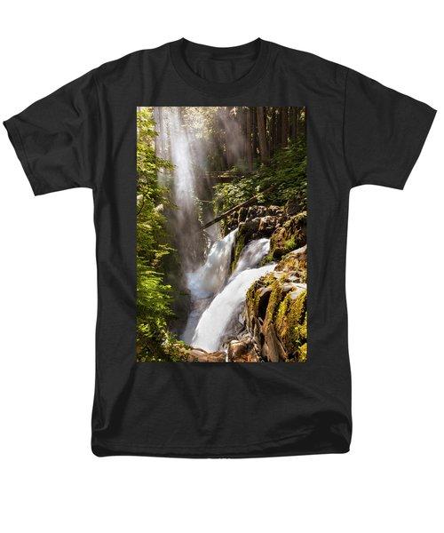 Men's T-Shirt  (Regular Fit) featuring the photograph Sol Duc Falls by Adam Romanowicz