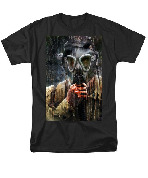 Soldier In World War 2 Gas Mask Men's T-Shirt  (Regular Fit) by Jill Battaglia