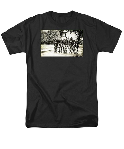 Soldiers Marching In Parade Men's T-Shirt  (Regular Fit) by Rena Trepanier