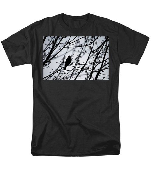Men's T-Shirt  (Regular Fit) featuring the photograph Song Bird Silhouette by Terry DeLuco