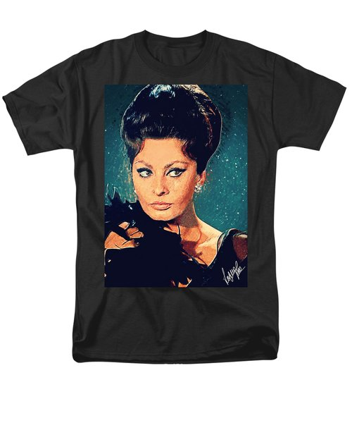 Sophia Loren Men's T-Shirt  (Regular Fit) by Taylan Apukovska