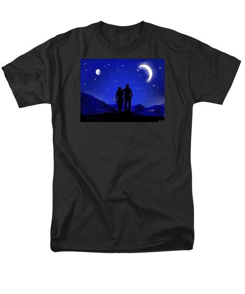 Men's T-Shirt  (Regular Fit) featuring the digital art Soulmates by Bernd Hau