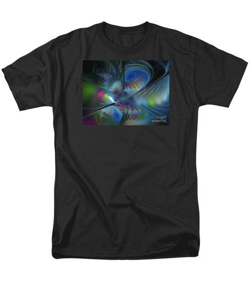 Men's T-Shirt  (Regular Fit) featuring the digital art Sound And Smoke by Karin Kuhlmann