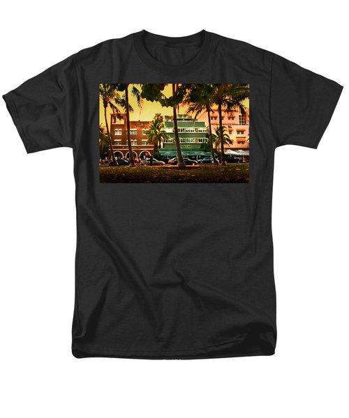 South Beach Ocean Drive Men's T-Shirt  (Regular Fit) by Steven Sparks