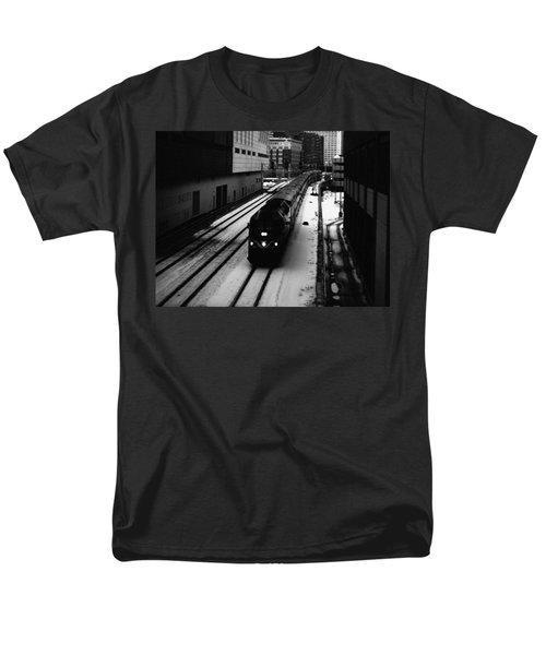 South Loop Railroad Men's T-Shirt  (Regular Fit) by Kyle Hanson