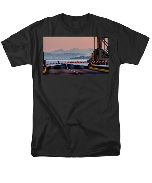 Southworth Ferry Terminal - End Of State Highway 160 Men's T-Shirt  (Regular Fit) by E Faithe Lester