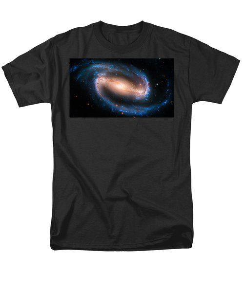 Space Image Barred Spiral Galaxy Ngc 1300 Men's T-Shirt  (Regular Fit) by Matthias Hauser