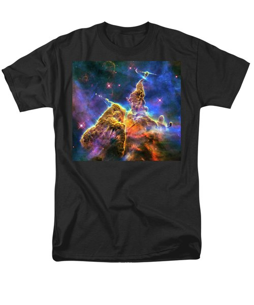 Space Image Mystic Mountain Carina Nebula Men's T-Shirt  (Regular Fit) by Matthias Hauser