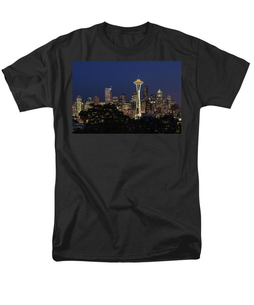 Space Needle Men's T-Shirt  (Regular Fit) by David Chandler