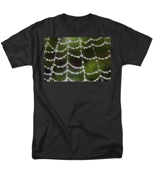 Men's T-Shirt  (Regular Fit) featuring the photograph Spider Web Decorated By Morning Fog by William Lee