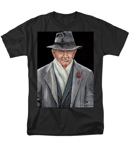 Spiffy Old Man Men's T-Shirt  (Regular Fit) by Judy Kirouac