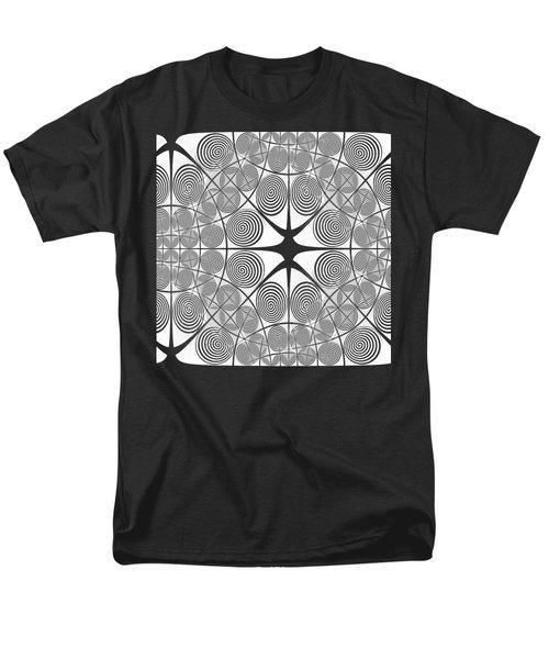 Spiral Abstract 7 Colour Choice Men's T-Shirt  (Regular Fit) by Barbara Moignard