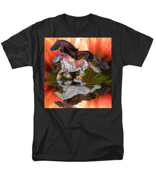 Spirit Horse II Leopard Gypsy Vanner Men's T-Shirt  (Regular Fit) by Michele Avanti