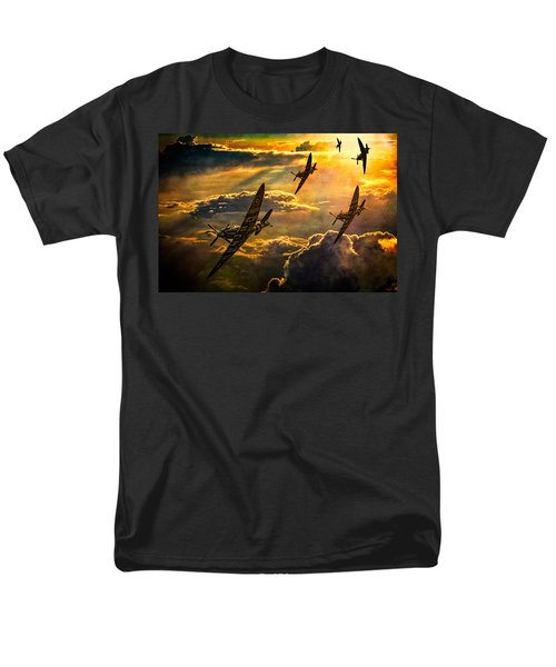 Men's T-Shirt  (Regular Fit) featuring the photograph Spitfire Attack by Chris Lord
