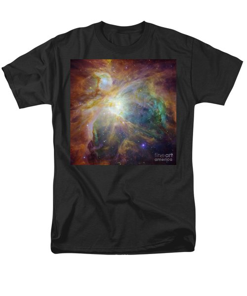 Spitzer And Hubble Create Colorful Masterpiece Men's T-Shirt  (Regular Fit)