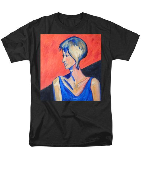 Men's T-Shirt  (Regular Fit) featuring the painting Split Personality by Esther Newman-Cohen
