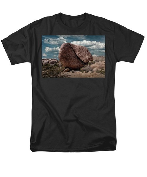 Men's T-Shirt  (Regular Fit) featuring the photograph Split Rock In Joshua Tree National Park by Randall Nyhof