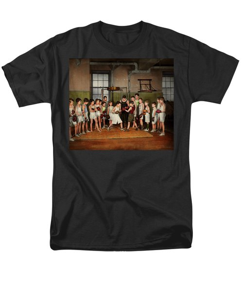 Men's T-Shirt  (Regular Fit) featuring the photograph Sport - Boxing - Fists Of Fury 1924 by Mike Savad