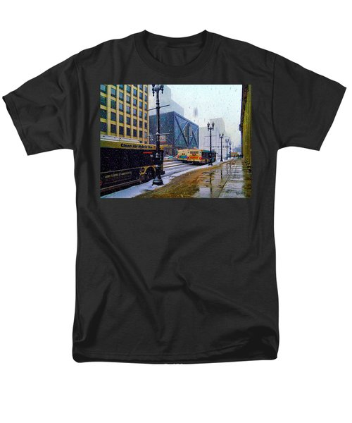 Spring Day In Chicago Men's T-Shirt  (Regular Fit) by Dave Luebbert
