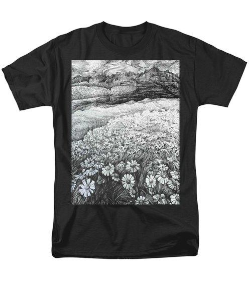 Men's T-Shirt  (Regular Fit) featuring the drawing Spring Flowers by Anna  Duyunova