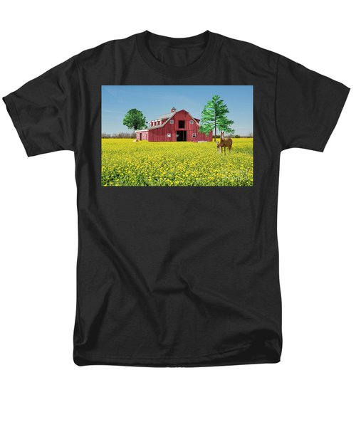 Men's T-Shirt  (Regular Fit) featuring the photograph Spring On The Farm by Bonnie Barry