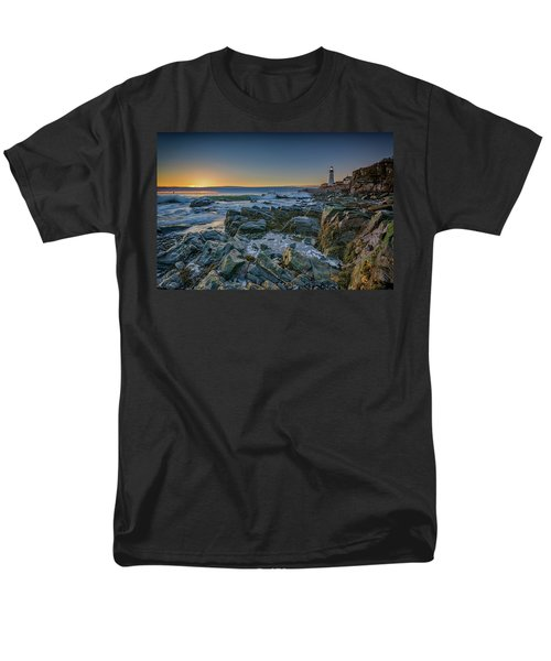 Men's T-Shirt  (Regular Fit) featuring the photograph Spring Sunrise At Portland Head by Rick Berk
