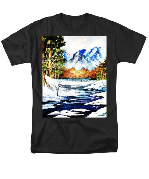 Men's T-Shirt  (Regular Fit) featuring the painting Spring Thaw by Al Brown